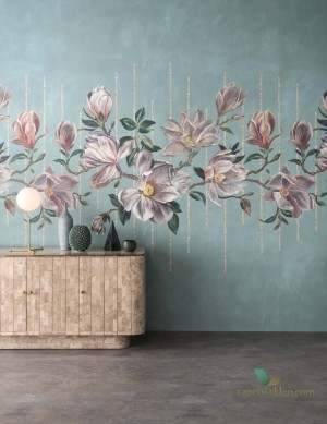Mural Osborne & Little W7338-02 Magnolia Frieze Folium