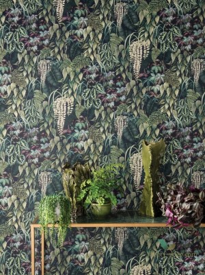Tapeta Osborne & Little W7330-02 Green Wall Folium