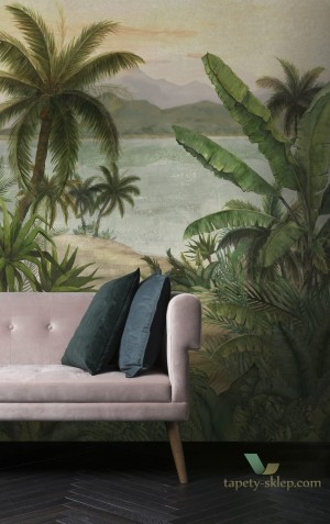 Mural Decoprint BLD22780 Tropical Morning Blooming