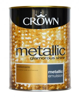 Farba złota CROWN FASHION WALL METALLIC millionaire 1.25L