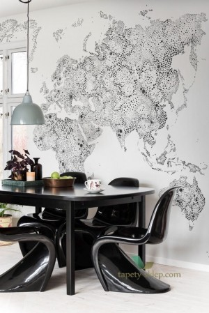 Mural Sandberg 630-19 World Map Familj