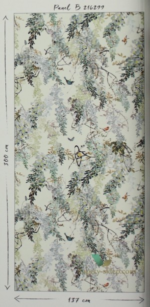 Mural Wisteria Falls Sanderson 216299 Panel B Waterperry