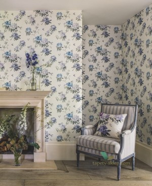 Tapeta Sanderson 216263 Waterperry Rhodera