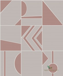 Tapeta Hooked On Walls Groove 29041 Tinted Tiles