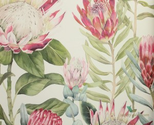 Tapeta Sanderson 216646 King Protea The Glasshouse