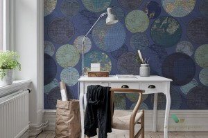Fototapeta Rebel Walls R13883 Globes Gathering Blue