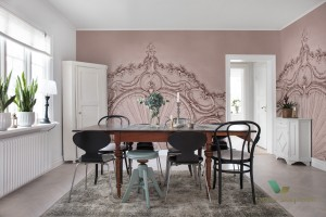Fototapeta Rebel Walls R15483 Stucco Gloria Dusty Pink