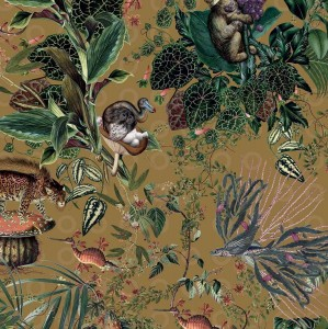 Tapeta Arte Moooi MO2074 Menagerie of Extinct Animals Curry