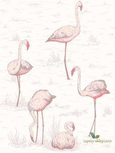 Tapeta Cole&Son Flamingos 95/8045 The Conptemporary Collection