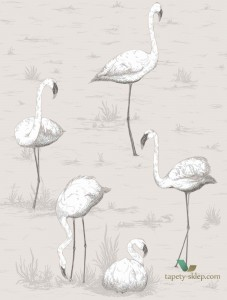 Tapeta Cole&Son Flamingos 95/8046 The Conptemporary Collection