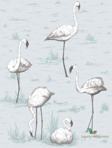 Tapeta Cole&Son Flamingos 95/8047 The Conptemporary Collection