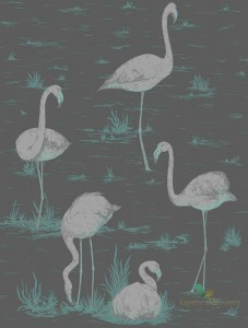Tapeta Cole&Son Flamingos 95/8048 The Conptemporary Collection