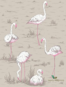 Tkanina Cole&Son Flamingos F111/3011LU The Contemporary Collection