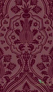 Tapeta Cole&Son Pugin Palace Flock 116/9034 Pearwood