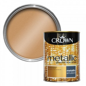 Farba złota CROWN FASHION WALL METALLIC millionaire 125ML