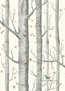 Tapeta Cole & Son 103/11050 Woods & Stars Whimsical