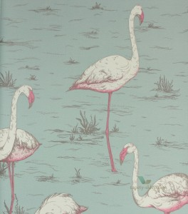 Tapeta Cole & Son 66/6044 Flamingos The Contemporary Selection