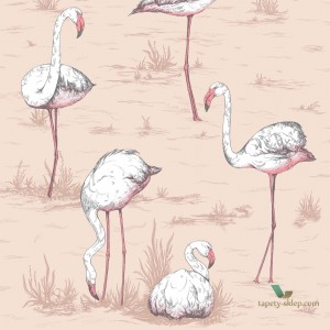 Tapeta Cole & Son Icons 112/11039 Flamingo