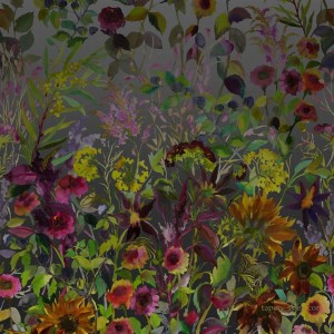 Mural Designers Guild PDG1068/01 Indian Sunflower Zardozi