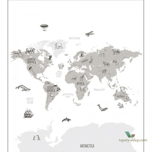 Mural Caselio Word Map OUP102039918 Our Planet