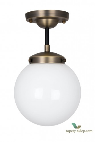 Lampa sufitowa Alley IP44 Antique Brass/White 990751 Globen