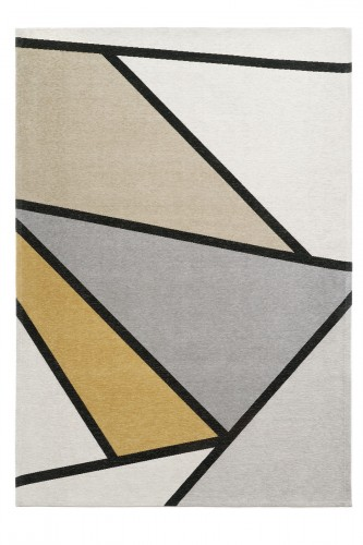 Dywan Geometryczny Ingrid Yellow Carpet Decor Magic Home