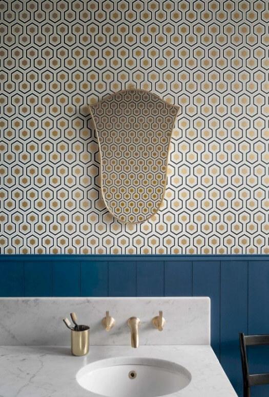 Tapeta heksagony do łazienki Cole&Son Hicks Hexagon 66/8056 The Conptemporary Collection