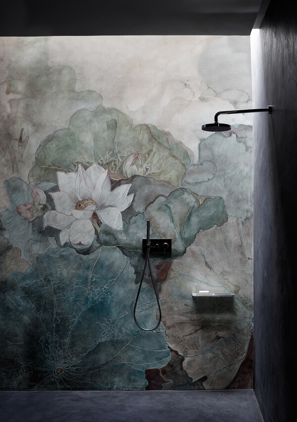 Fototapeta kwiaty pod prysznic Niveum Wall & Deco WET_NI1601 WET SYSTEM 2016
