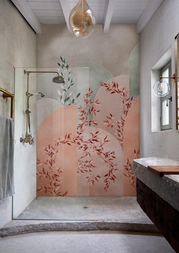 Fototapeta pod prysznic w stylu art deco Wall&Deco WET_VI2001 VIVIDO WET SYSTEM 2020