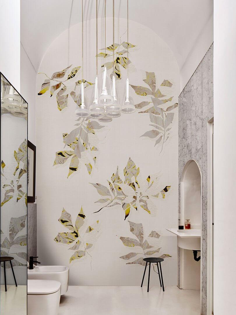 Fototapeta łazienkowa w Liście London Art 21048 01 More Life Exclusive Wallpaper 2021