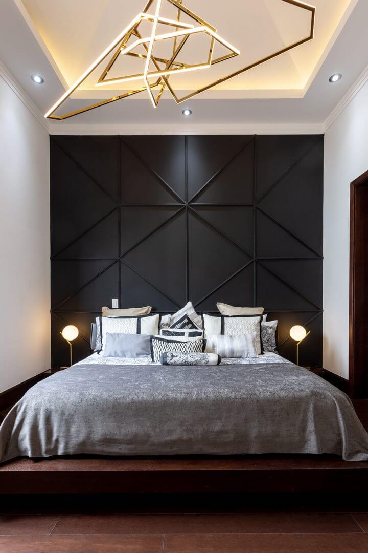 nowoczesna listwa oświetleniowa do sypialni