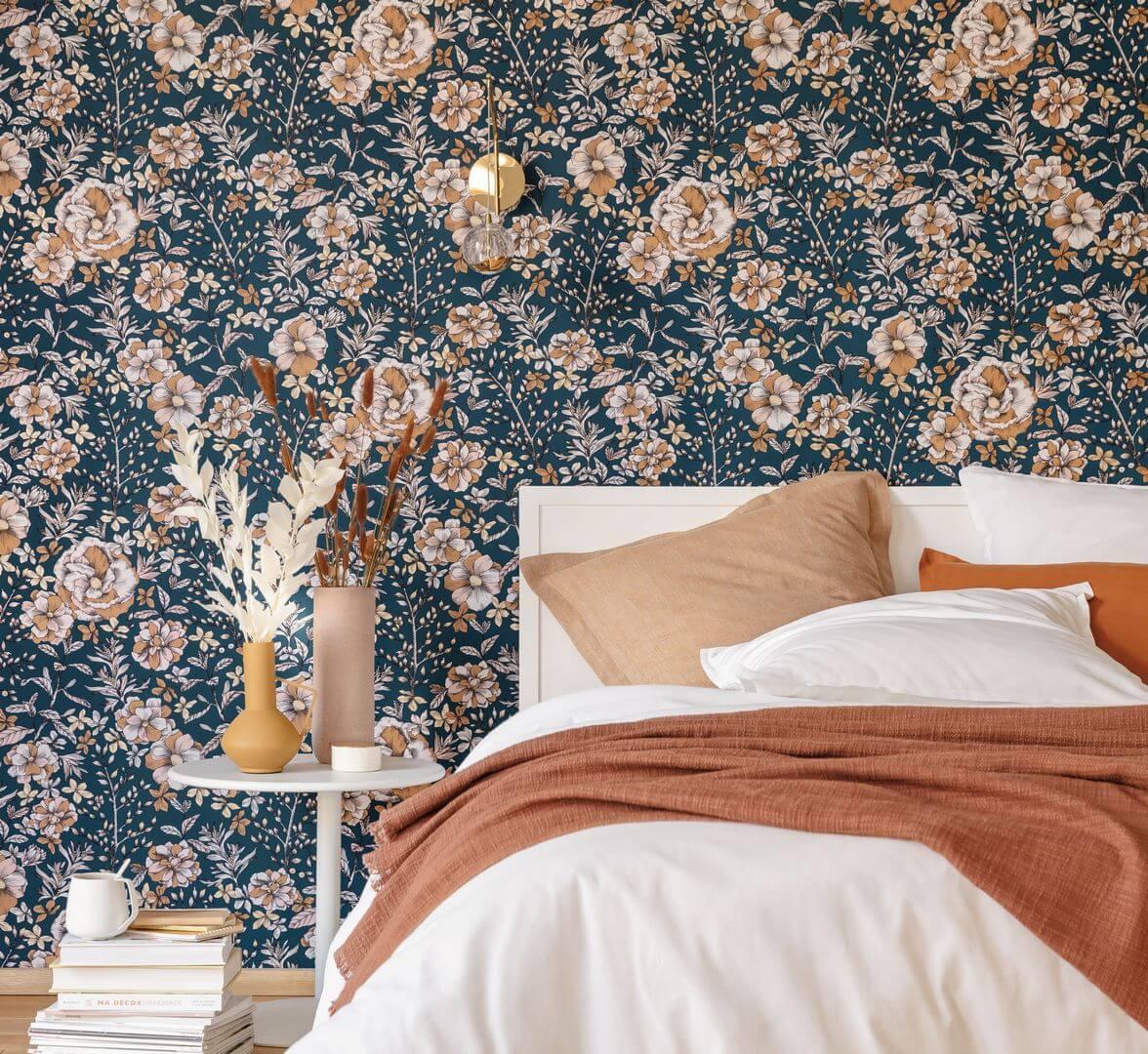 tapeta w kwiaty do sypialni Caselio NGR103066343